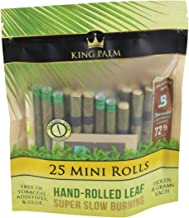 8pc Display - King Palm Hand Rolled Leaf - 25per PK - Mini