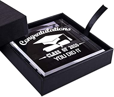WaaHome Congratulations Graduates Class of 2020 Keepsake and Paperweight High School College University Graduation Gifts for Graduates Him Her Daughter Son Girls Boys