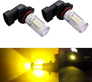DunGu 9145 H10 LED Fog Lights Bulbs Canbus High Power 80W Epistar Projector For Car Golden Yellow Pack of 2