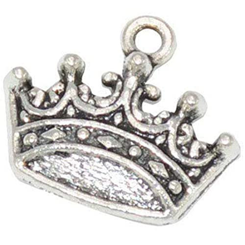 20PCS Multi-Color Tone Alloy King Crown Shape Jewelry Charms Pendant Crafts