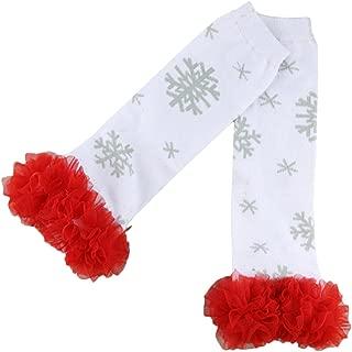 baby snowflake leg warmers