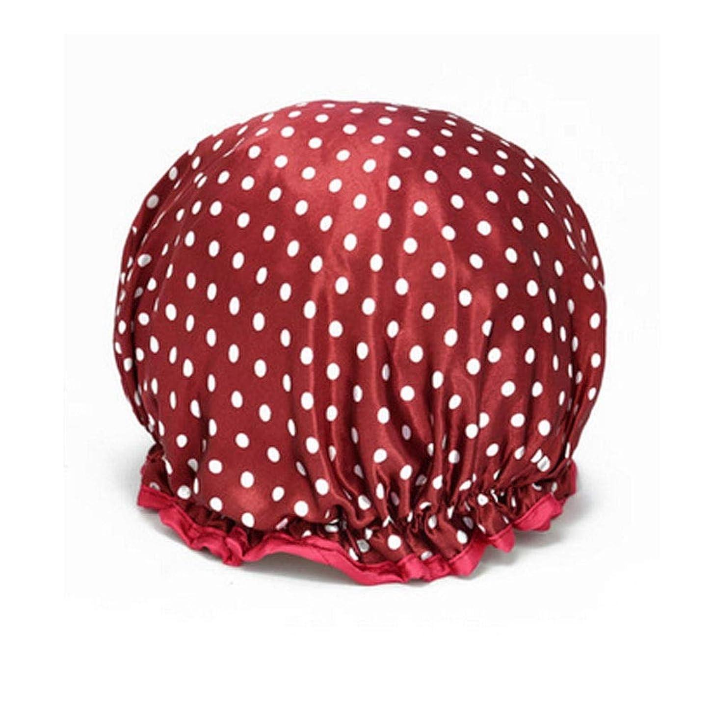 ピンク釈義それるXiaoNUO シャワーキャップ、レディースシャワーキャップ - 防水とカビ防止、再利用可能なシャワーキャップ. 髪を乾いた状態に保ちます。 (Color : 1)