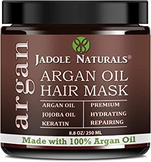 Hydrating Argan Oil Hair Mask and Deep Conditioner By Jadole Naturals for Dry or Damaged Hair