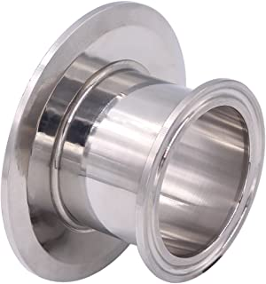 DERNORD Sanitary Concentric Reducer Tri Clamp Clover Stainless Steel 304 Sanitary Fitting End Cap Reducer (Tri Clamp Size: 3 inch x 2 inch)