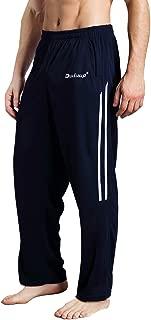 Workout Pants Men - Quick Dry Active Sports Sweatpants Open-Hem with Pockets