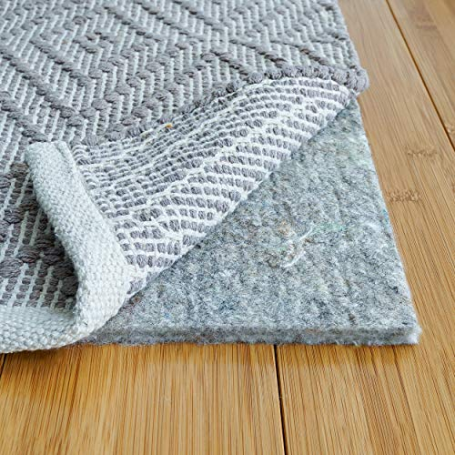 RUGPADUSA - Basics - 8'x10' - 1/3' Thick - 100% Felt - Premium Comfort Rug Pad - Also Available with Non Slip Option - Safe for All Floors and Finishes including Hardwoods - Made In the USA