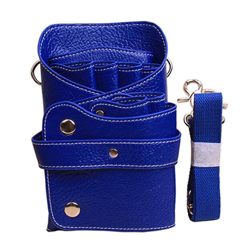 SONGLIN Blue Multifunctional Barber Shears Holster Hairdressing Salon Scissors Bag Comb Holder Pouch Waist Holder Case Bag