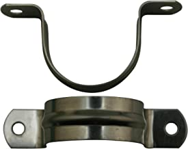 Amanaote Stainless Steel 1.6 Inches Diameter Tube Strap Tension Clip Pipe Clamp(Pack Of 10 Sets)