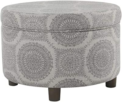 Super Kinfine K6427 F1604 Decorative Storage Ottoman Gray Alphanode Cool Chair Designs And Ideas Alphanodeonline