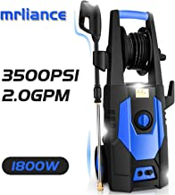 mrliance 3500PSI Electric Pressure Washer 2.0GPM Power Washer 1800W High Pressure Washer..