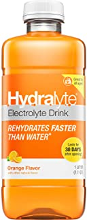 Hydralyte Oral Electrolyte Solution, Ready to Drink Clinical Hydration Formula, Orange, 33.8 Oz