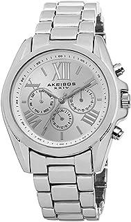 Akribos XXIV Women's Silver Dial Stainless Steel Band Watch - AK693SS