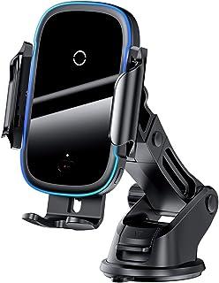 Carregador Baseus Sem fio Veicular 15w, Suporte de telefone de fixação rápida Qi de carregamento rápido de 15 W, Suporte d...