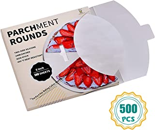 Parchment Paper Rounds-500,6 Inch Cake Pan liners, 4