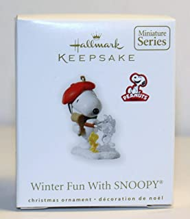 Winter Fun with Snoopy #13 in Series 2010 Hallmark Miniature Ornament