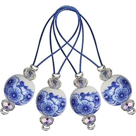 KnitPro ZOONI: Marqueurs de point de perles: bleu fleuri, assortiment