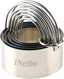 Biscuit Cutter, iNeibo Round Pastry Dough Cookie Cutter with Handle, Baking Dough Tools