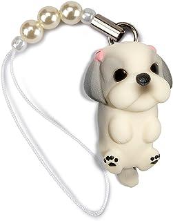 ペットラバーズ 犬種 Dog 92 Shih Tzu シーズー シルバーホワイト ビーズ ストラップ DN-5003