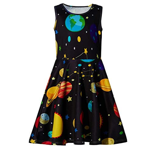 5d16c6390f7 Ahegao Girl's Floral Sleeveless Skirts Kids One Piece Dresses School Party  Casual 4-13 Years