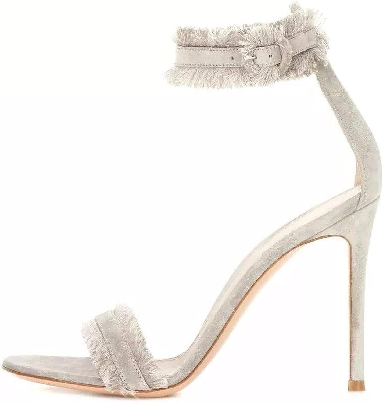 Buckle Casual Basic High Heels Sandals Women Sandals Women Size 34-43 ZYL2491