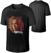 MoniqueABeech Mans Eminem Relapse Refill Cotton Shirts Music Band T-Shirt Black
