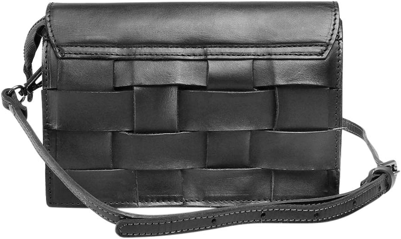 Garyesh Crossbody Bags for Women Genuine Leather Shoulder Bag Retro Weaving