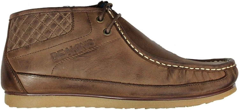 Deakins Mens Boots Nicholas Company Black & Coffee Colours 7-11