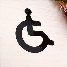 WC teken Acryl-rolstoel gehandicapten toilet gespiegelde deursticker/wandbord Duidelijke begeleiding, goede stevigheid en ...