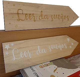 Flecha de madera Leer da sueños