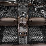 Dinuoda Alfombrillas de coche para BMW Serie 7 2004-2008 Full rodeado de protección contra todo tipo de clima, antideslizante, impermeable y resistente al desgaste de cuero para pies (Negro)