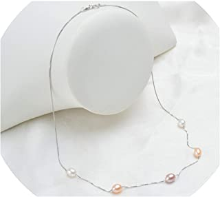 KEIRA HENDERSON Real 925 Sterling Silver Necklace Chain 6-7mm Natural Freshwater Pearl Jewelry for Women Gift