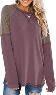 Miracle Womens Tops Long Sleeve Shirts Casual Round Neck Blouse T-Shirt Tee