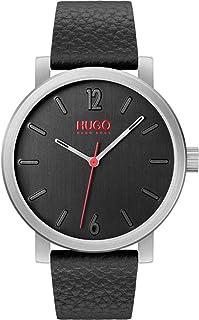 HUGO Reloj Analógico para Unisex Adulto de Cuarzo con Correa en Cuero 1530115