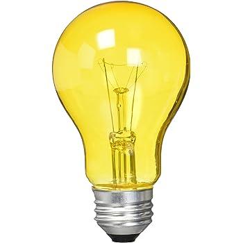 Ceramic Red Satco S4980 40 Watt A19 Incandescent Light Bulb