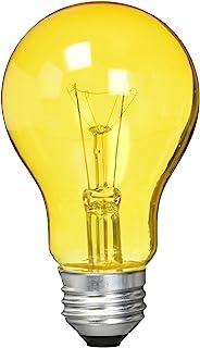 Westinghouse Lighting 0344300, 25 Watt, 120 Volt Trans Incandescent A19 Light Bulb-2500 Hours, 1 Pack, Amber