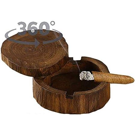 Retro Weinlese hölzerne Aschenbecher handgemachte Tabak Aschen Behälter