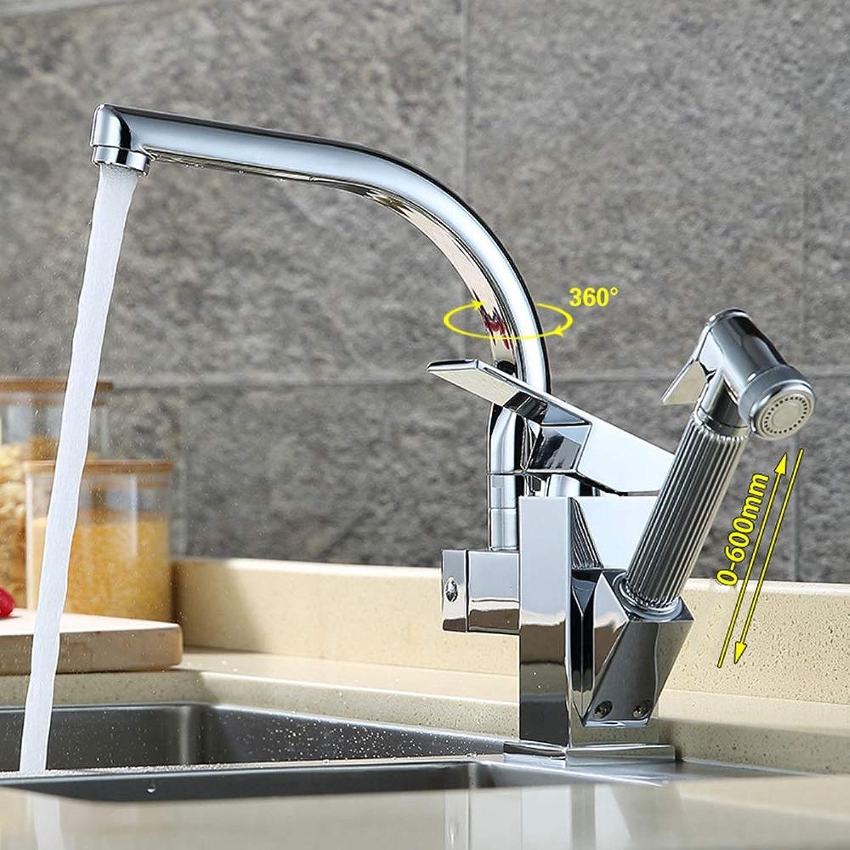 Vollkupfer Küchenarmatur, Spüle Silber Küchenarmatur, Doppelkopf, 360-Grad-Drehung, Zwei Reinigungsmodi, Gre 32  14  15cm gute Qualitt