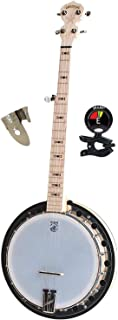 Deering Goodtime Two 5 Strings Banjo with Resonator Kit with Finger & Thumb Picks Banjo and Banjo Tuner