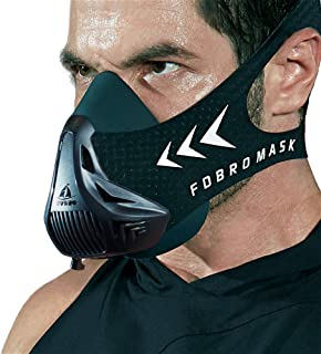 FDBRO Workout Mask Sports Mask Fitness,Running, Resistance,Cardio,Endurance Mask for Fitness Training Sport Mask 3.0 with Carry Box