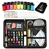 Qisiewell Kit de Costura 116 Piezas Costurero con Accesorios Kit De Costura Profesional para El Viajes Y Hogar Y Emergencias