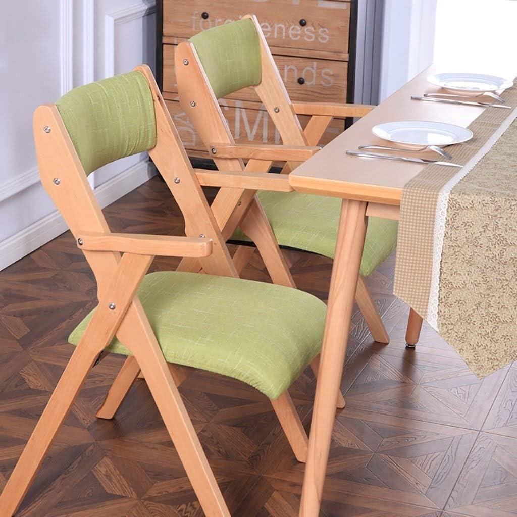 Chaise pliante Dossier Chaise de salle à manger Chaise de réception Ménage Loisirs bureau de la famille restaurant Café en bois massif (Color : A4) A11