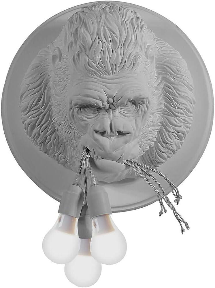 Karman ugo rilla led, lampada da parete, a forma di gorilla in ceramica AP152BB INT
