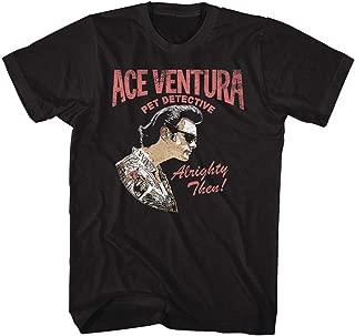 Ace Ventura: Pet Detective Comedy Movie Ace Profile Black Adult T-Shirt Tee