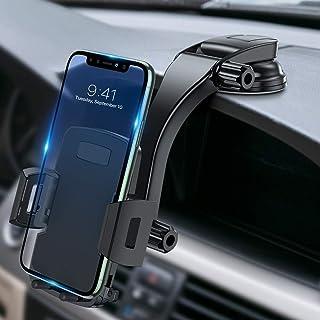 حامل هاتف خلوي Miracase للسيارات، لوحة القيادة والزجاج الأمامي 360 درجة دوران زر واحد حامل هاتف السيارة متوافق مع iPhone X...