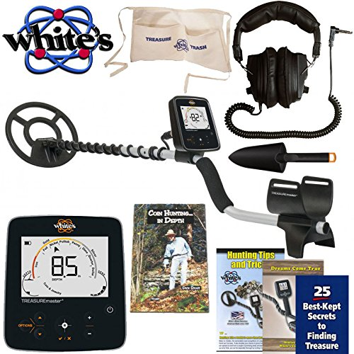 Whites Treasuremaster Metal Detector Waterproof Search Coil, Headphones, Apron,...