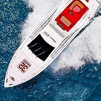 SOWOFA 70CM 27.5インチ特大2.4Gリモートコントロールラグジュアリークルーズ船水上を走るスピードボート25km +ワイヤレスコントロール電気ボートヨット飛行船8+