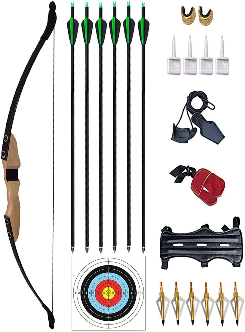 Vogbel Archery Takedown 数量限定 100%品質保証! Recurve Bow and Righ 30lb Set Arrow 40lb