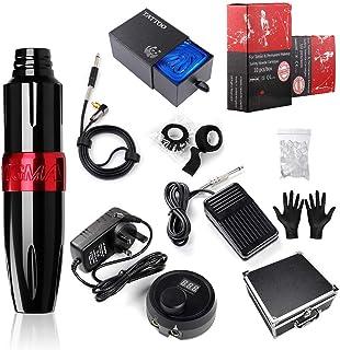 Stigma Professionele Tattoo Machine Motor Pen, Roterende Tattoo Machine Kit met Patronen Naald Voeding