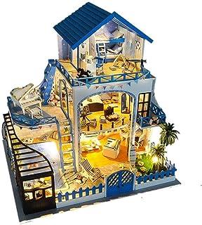 XYZMDJ Miniatyr dockhus, hantverk trä dockhus modellkit för tonåringar och vuxna