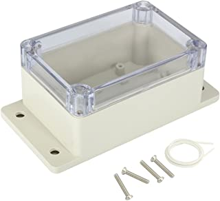 "Awclub Waterproof Dustproof ABS Plastic Junction Box Universal Electric Project Enclosure with PC Clear Transparent Cover 3.9""x2.7""x2""(100mmx68mmx50mm)"